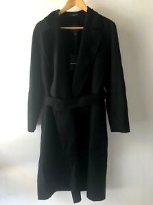 COUNTRY ROAD : SZ 12,14,16 [CR LOVE] belted wool coat jacket - black M,L,XL