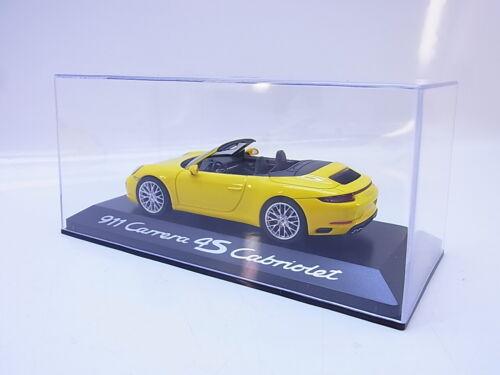 55330 Herpa Porsche Carrera 4S Cabriolet Typ 991 Modellauto gelb 1:43 NEU OVP