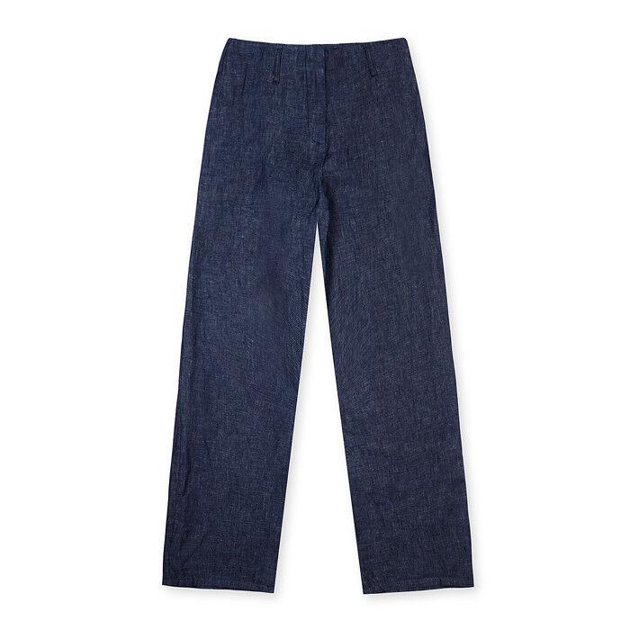 Momoni Da Donna LARA Lino Pantaloni Taglia 8 10 UK UK UK BNWT RRP  Denim Blu ac85b8