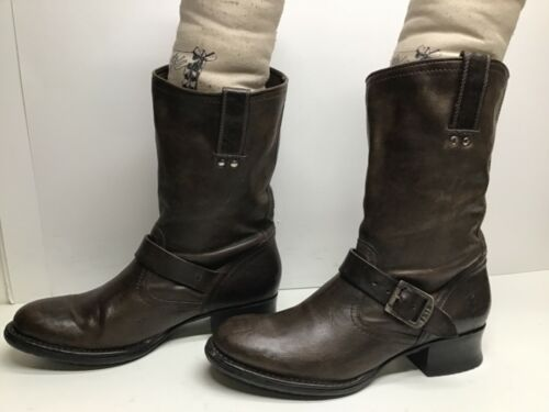 VTG WOMENS FRYE ENGINEER BROWN BOOTS SIZE 9.5 B