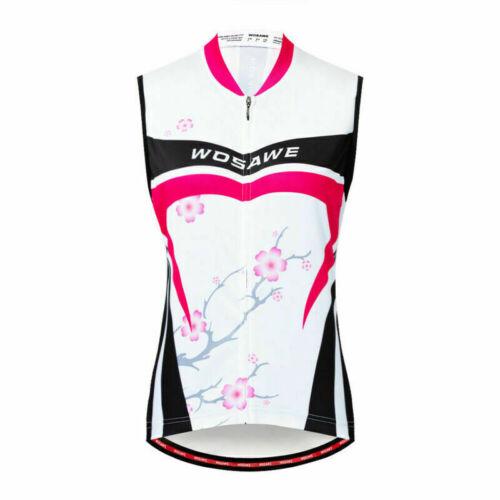 Women Sleeveless Cycling Jersey Biking Vest Short Sleeve Shirt Biker Gilet Lady