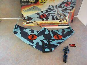 1983 HASBRO GI JOE COBRA VIPER ATTACK GLIDER W/ORIGINAL BOX & PILOT FIGURE