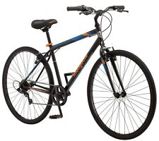 700C Mongoose Hotshot Men's Steel Frame Bicycle-Orange/Black