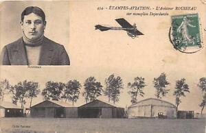 CPA-91-ETAMPES-AVIATION-L-039-AVIATEUR-ROUSSEAU-SUR-SON-MONOPLAN-DEPERDUSSIN