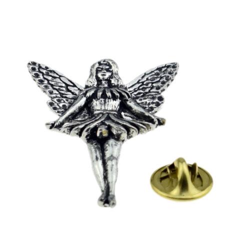 Standing Fairy English Pewter Lapel Pin Badge XTSPBC14