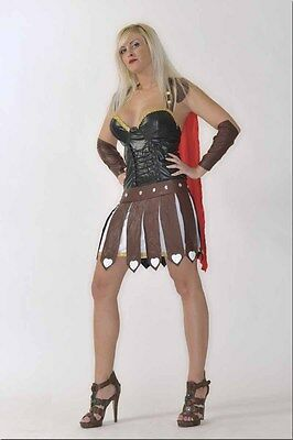 Gladiatorin Amazone Rom Karneval Fasching Damen Kostüm Gladiator  LARP L//XL FK01