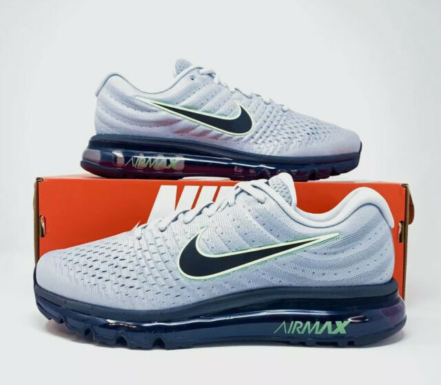 Nike Air Max 2017 'Wolf Grey Black Volt' Men's Running Shoe 849559 012