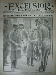WW1-N-1467-FETE-ROI-ALBERT-LONDRES-BATAILLE-DES-FLANDRES-JOURNAL-EXCELSIOR-1914