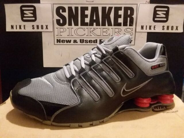 new concept 60a7a 5f7df Nike Shox NZ Prm - Black / Stealth Grey - Sport Red - 378341 039 - Mens  Size: 12