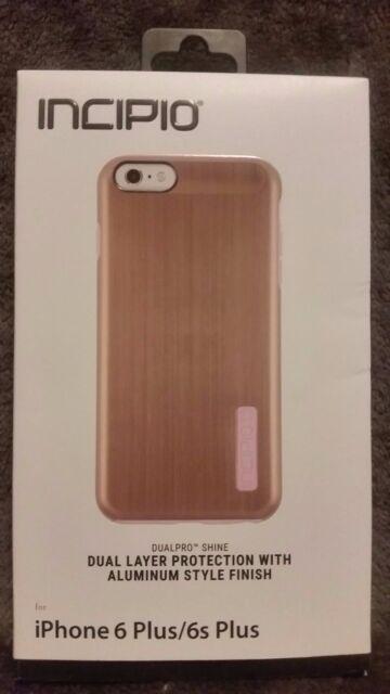 timeless design 22e36 9cc3c Incipio DualPro Shine Phone Case for iPhone 6 6s Plus Rose Gold Blush Pink