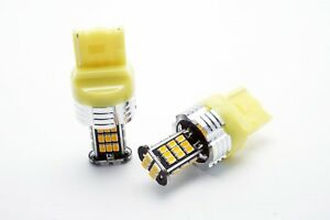2x-LED-BULBS-T20-WY21W-3020-SMD-CANBUS-YELLOW-AMBER-DIRECTION-INDICATOR-CAR-W21W