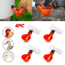 4pcs Water Drinking Cups Chicken Waterer Automatic Poultry Drinkers U9