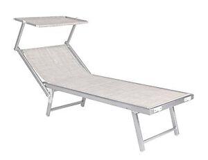 Lettino mare alluminio colore inox ocean grigio mare stabilimento piscina ebay - Lettino piscina alluminio ...