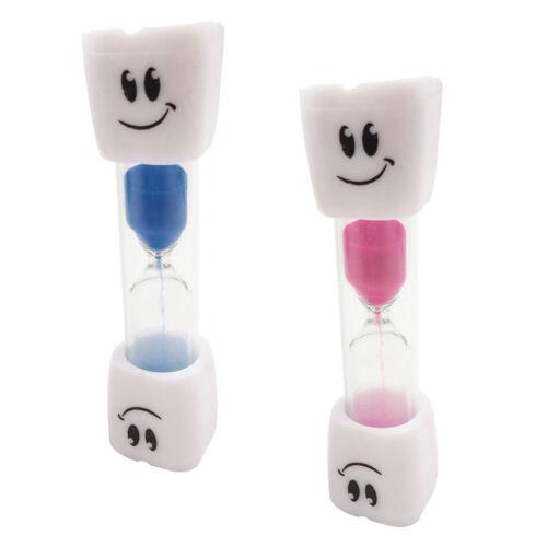 2pcs 3 min sablier sablier enfants minuterie brosse à dents brosser le