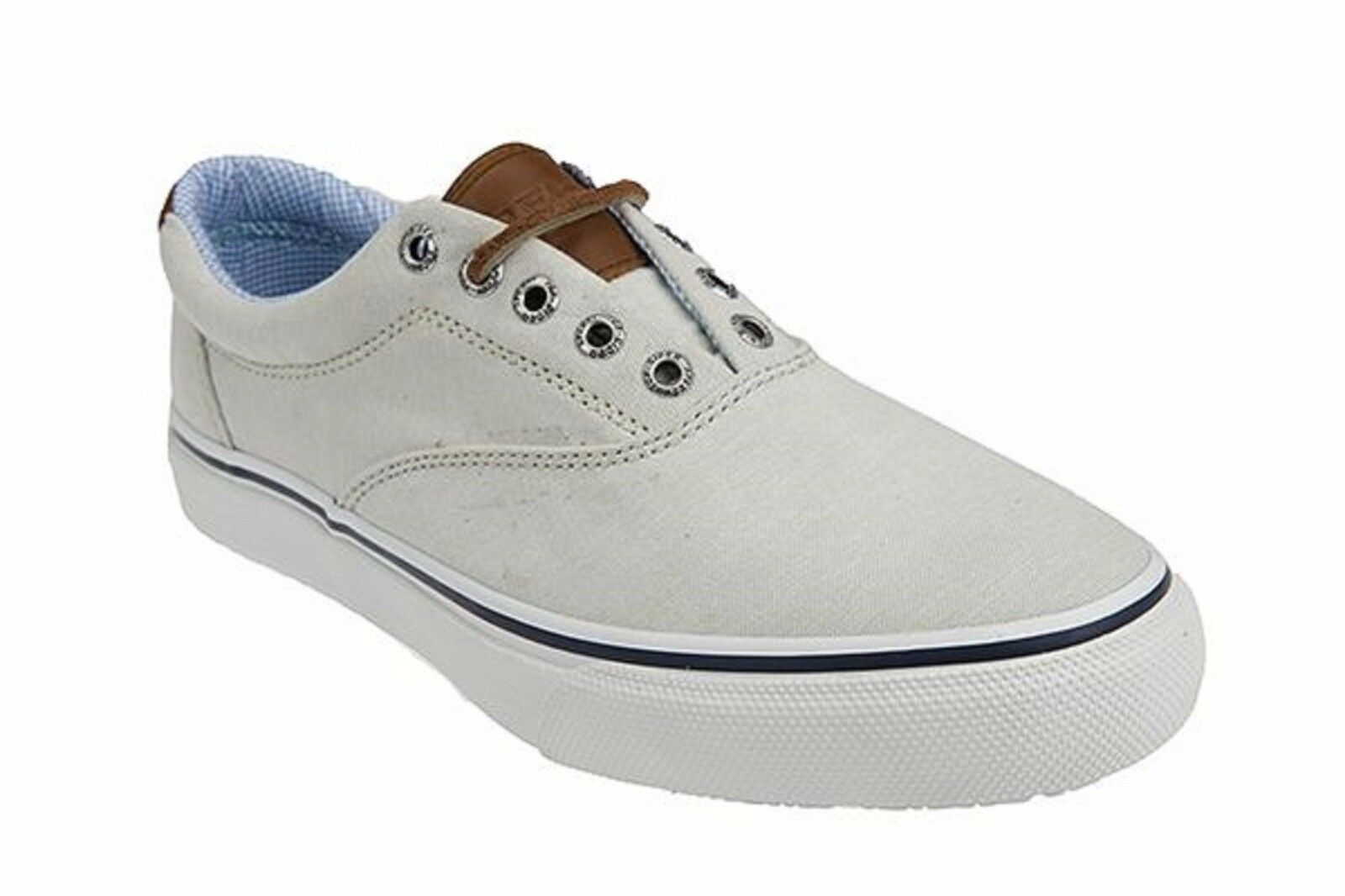 Scarpe casual da uomo SPERRY TOP SIDER 10831 STRIPER CVO CHAMBRAY Mn's (M) Green Canvas Casual Shoes
