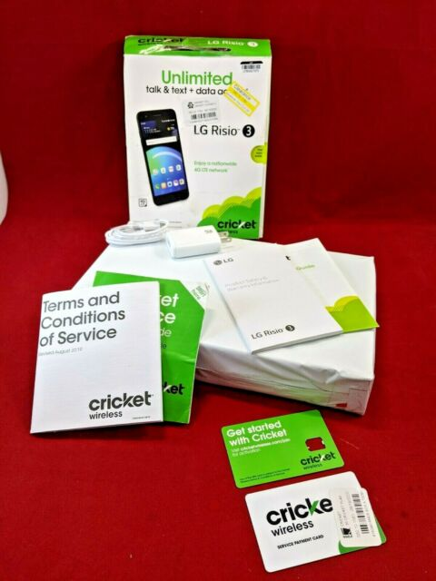 "Cricket Wireless LG Risio 3 Prepaid 5"" Screen Android 16GB Smartphone"