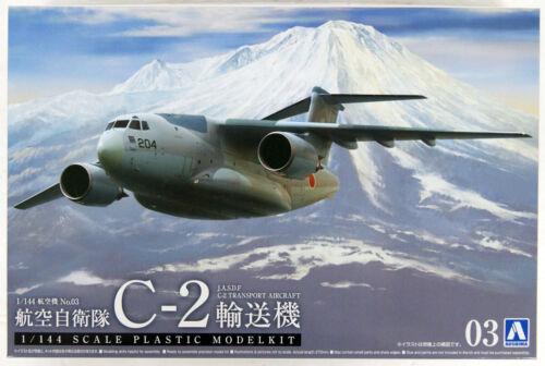 Aoshima Aircraft Series No.3 55083 JASDF C-2 Military Transport 1//144 Scale Kit