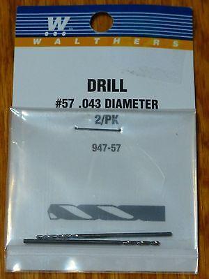 Walthers #947-57 Drill Bit 2 Pack #57 Diameter .043