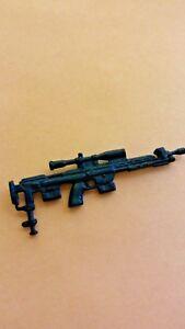 GI Joe Weapon Heavy Duty Wide Scope Black Out Gun 2003 2004 Original Accessory