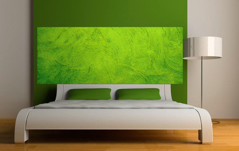 Papel pintado cabeza de colcha fondo green 3638 Arte decoración Pegatinas