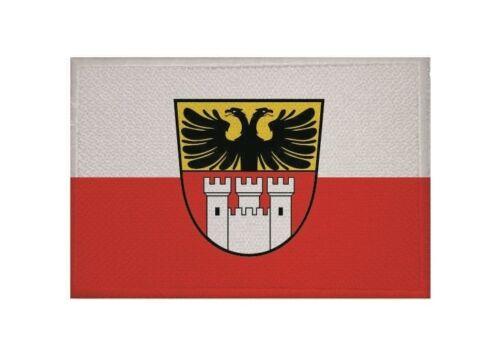 Aufnäher Duisburg Fahne Flagge Aufbügler Patch 9 x 6 cm