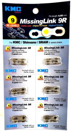 Count Card KMC MissingLink 9 6.6mm for 9-Speed Chains Missing Link 9 Silver 6