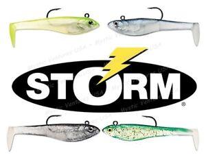 YOU-PICK-4-5-034-Storm-Wildeye-Pro-PADDLE-Tail-3pk-Rapala-Bass-Walleye-Northern