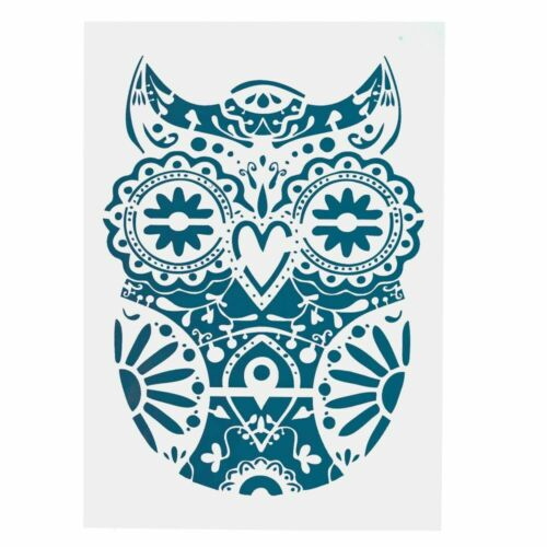 DIY Craft Mandala Owl Stencils For Painting On Wood Fabric Wall Art Animal Decor