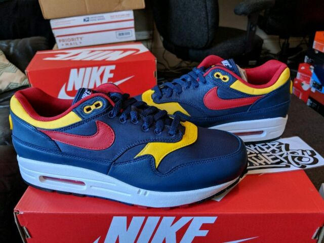 Nike Air Max 1 Premium Snow Beach Limited Polo Navy Gym Red Sulfur 875844 403