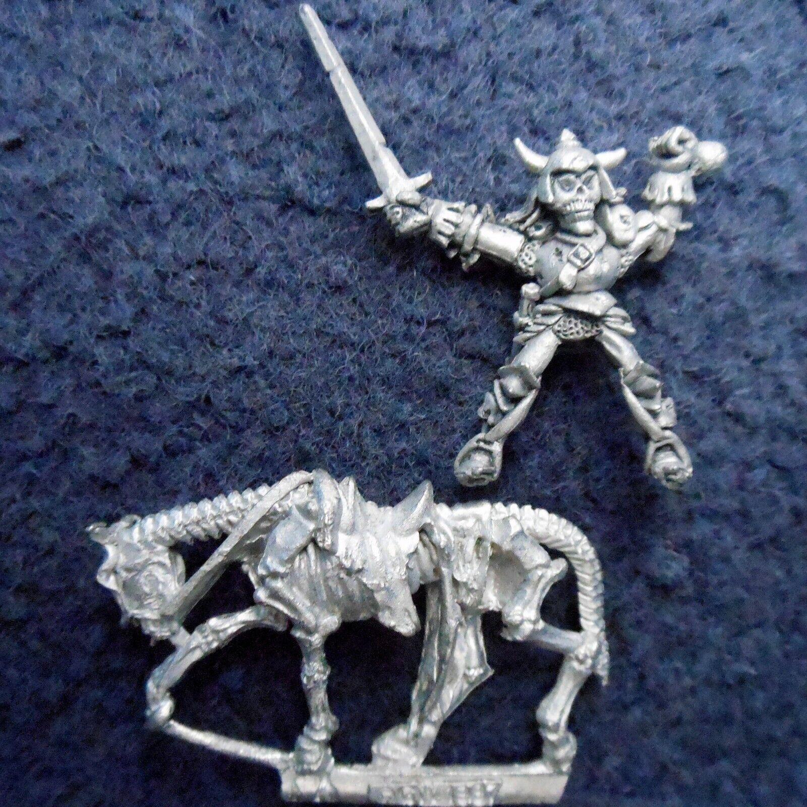 1987 Undead Cavalry C21 14 Skullface Mounted Skeleton Zombie Citadel Warhammer