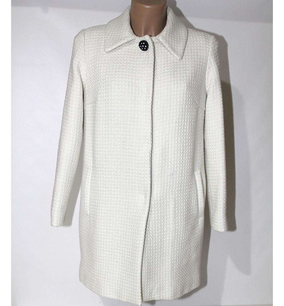 Mantel Frau Marcello Sangiorgi 42 white Wolle Made in