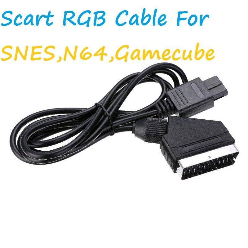 1.8M Real RGB For SNES NGC 1.8M Scart TV AV HD Lead AV PVC Lead Cable Game N64
