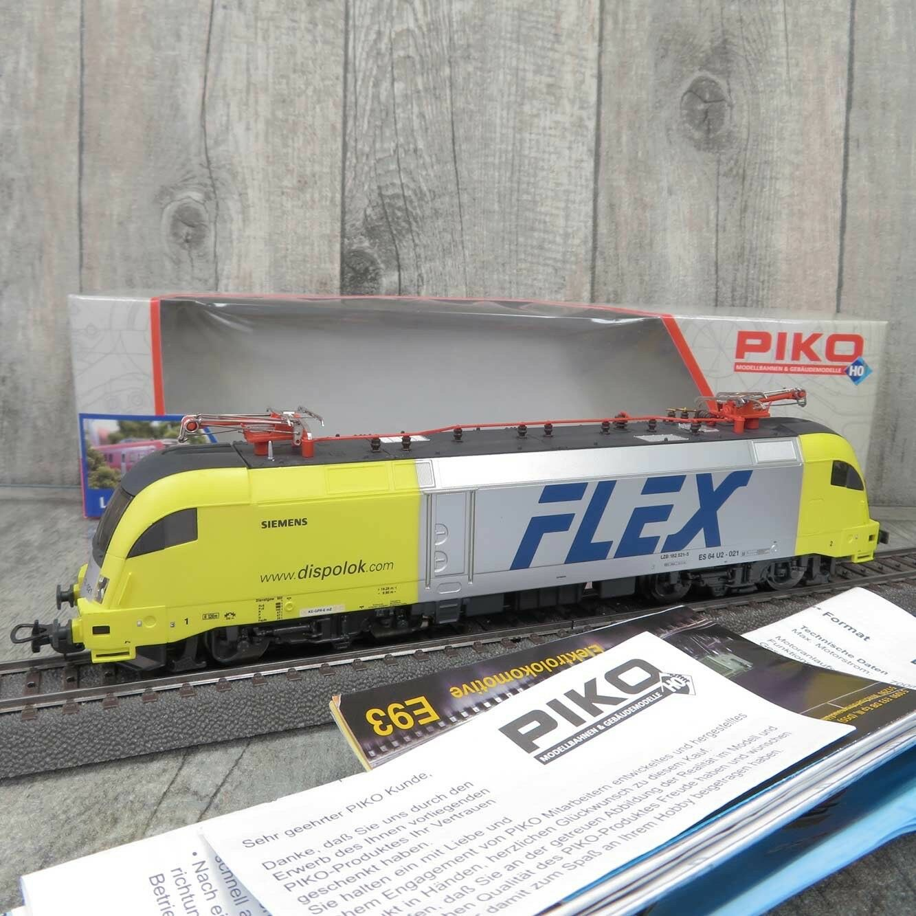 PIKO 57225  f. AC - HO - Dispolok FLEX  182521-5 - DIGITAL - OVP -  Y20857