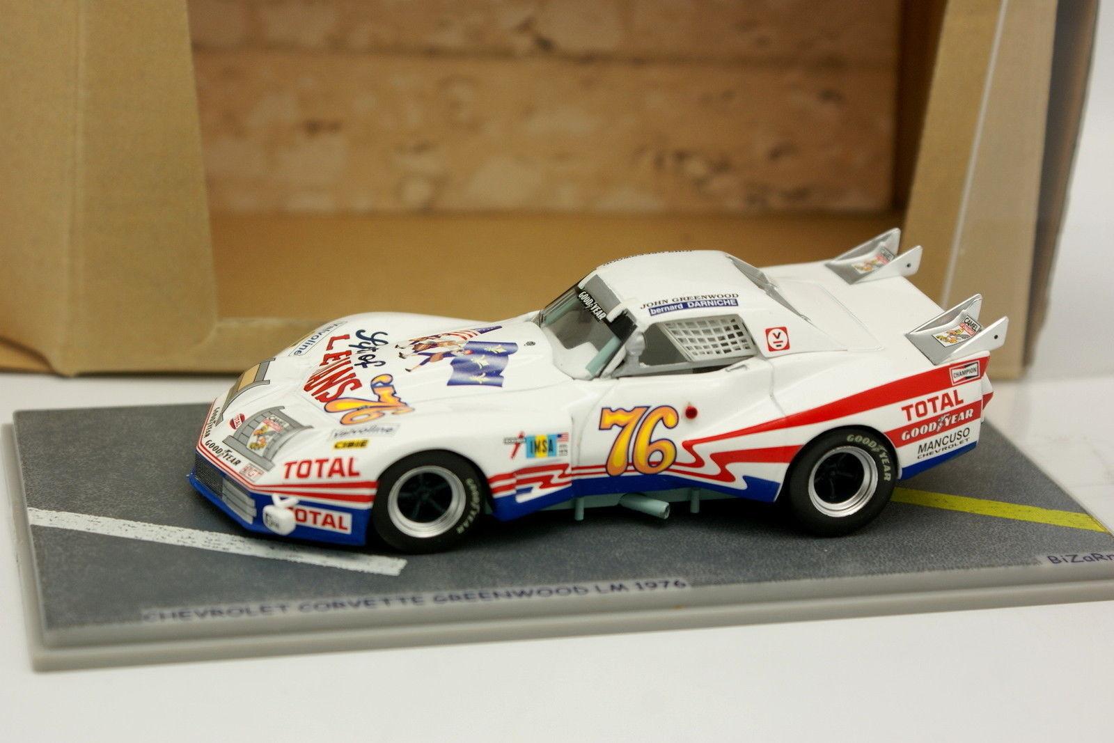 Bizarre 1/43 - Chevrolet Corvette Greenwood Le Mans 1976 N°76