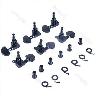 3R3L Set Profession Guitar String Tuning Pegs Keys Tuners Machine Heads 6 Black