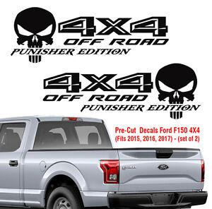 Ford F150 4x4 Off Road Punisher Decals Truck Sticker Vinyl 2015 2016