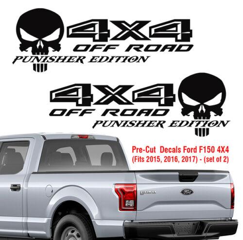 Ford F150 4X4 off road Punisher Decals Truck Sticker Vinyl 2015 2016 2017 Decal