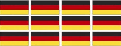 """12 Germany Flag Decal 2/""""x1.2/"""" German Deutsch Vinyl Hard Hat Helmet Sticker"""