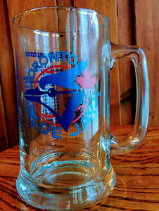 MLB-TORONTO-BLUE-JAYS-1985-Championship-Heavy-Glass-Beer-Mug-w-Handle-amp-Roster