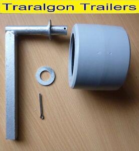 boat trailer single wobble roller kit galvanised brackets galvanized