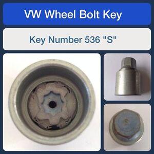 Audi Non Genuine Locking Wheel Nut Bolt Set with Key