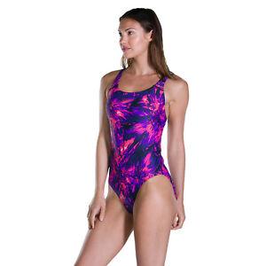 Speedo Womens Swimsuitflyingflash Purplepink Endurance Swimming