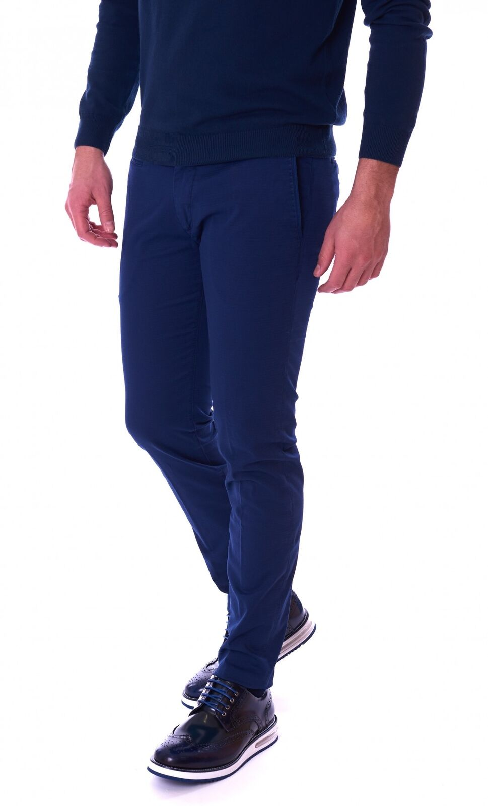 PANTALONE RE-HASH MUCHA ARMATURATO blue RE-HASH P037-2252-blue-PE18