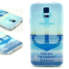 TPU Soft Anchor Pattern Back Case Cover Skins For Samsung Galaxy S5 i9600