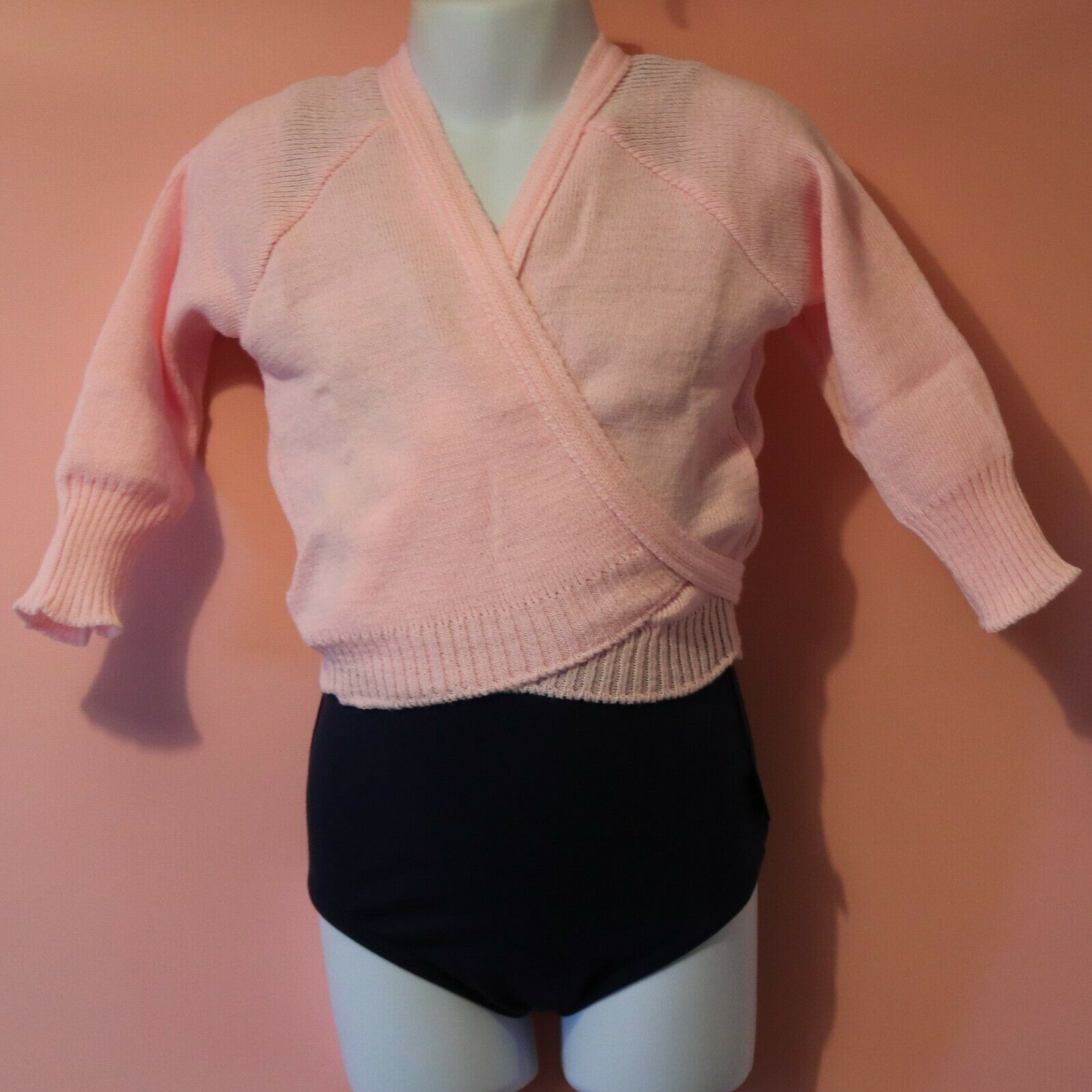Danse Dezines Pink Knitted Crossover Cardigan Various Sizes NEW