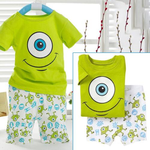 Kids Boys Clothes Mike Wazowski Tee Shirt Top Pant Shorts Summer Outfits Set