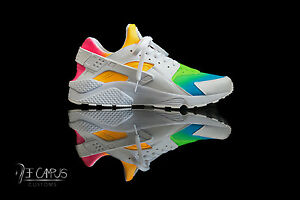 Image is loading Custom-Nike-Huaraches-rainbow