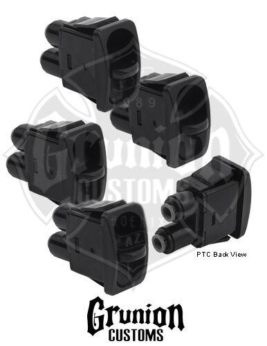 "Manual Paddle Valve Pneumatic PTC 1//4/"" Fittings Air Bag Ride FBSS 4 Pack"