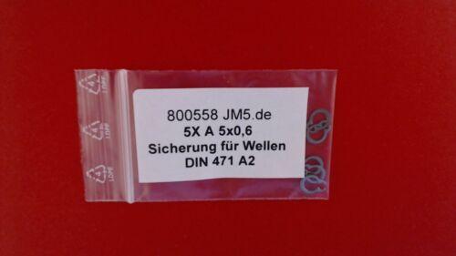 DIN471 /Ø 15mm 5x Wellensicherungsringe au/ßen