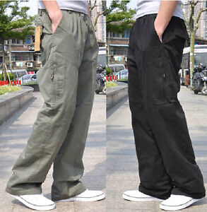 Men/'s Loose Cargo Carpenter Casual Overalls Cotton Sport Work Pants Plus Size